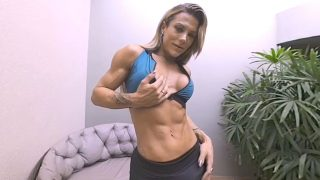 Fucked By A Trans Bodybuilder On Roids!