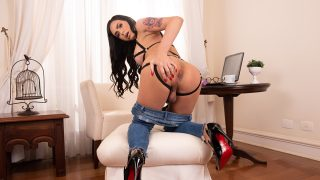 Trans Angel Barbara Perez Plays With Her Penis, Tits, And Her Ass